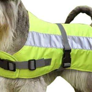 "FLECTALON DOG JACKET HI-VIZ 10"" YELLOW"