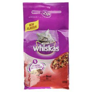 Whiskas Dental Protection Cat Food Beef 2kg