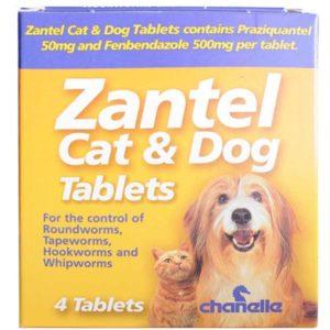 Zantel Cat & Dog Worming Tablets