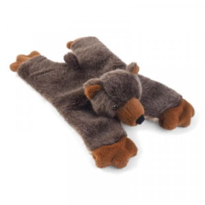 Zoon crinkle bear dog toy