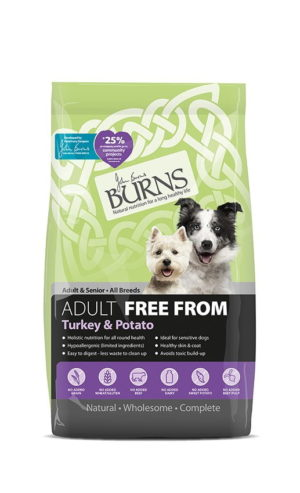 Burns Free From – Adults – Turkey And Potato – 2kg