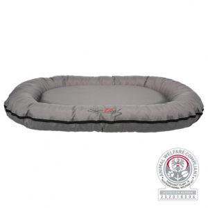 rixie Samoa Vital cushion oval dog bed grey