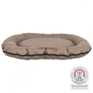 Trixie Samoa Vital cushion oval dog bed taupe