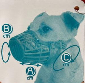 ferplast muzzle diagram