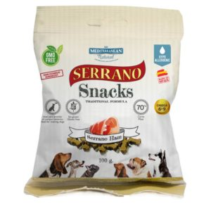 serrano ham dog snacks