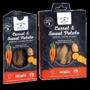 go native 150g super dental carrot dog treats