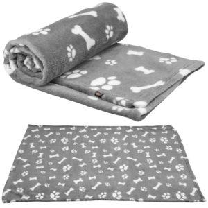 kenny dog plush blanket grey