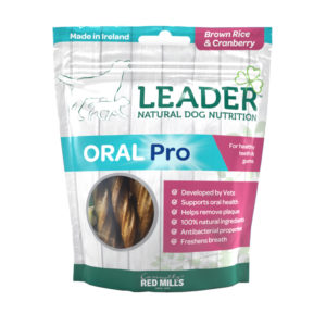 Leader Oral Pro Dental Sticks – Brown Rice and Cranberry Flavour