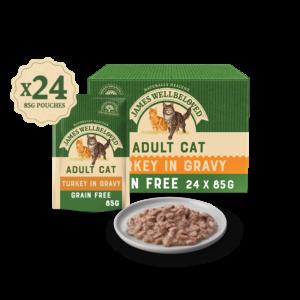 GRAIN FREE ADULT TURKEY IN GRAVY WET CAT FOOD POUCH
