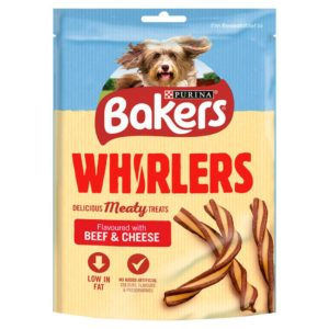 bakers whirlers beef and cheese dog treats 130g