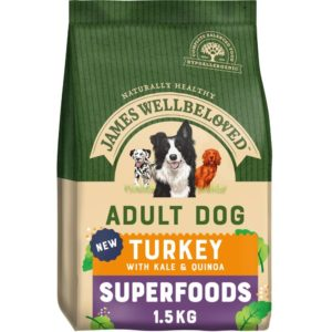 DULT TURKEY WITH KALE & QUINOA DRY DOG SUPERFOODS.