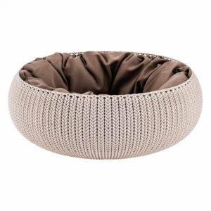 keter cosy knit pet bed for cats and dogs