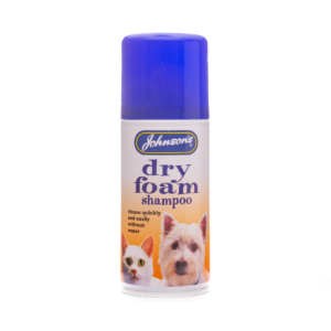 johsons dry foam shampoo for dogs and cats.
