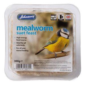 Johnson's Mealworm Suet Feast Block 300g