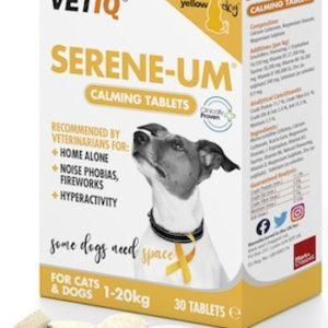 VetIQ Serene-UM Xtra 30 Calming Tablets.