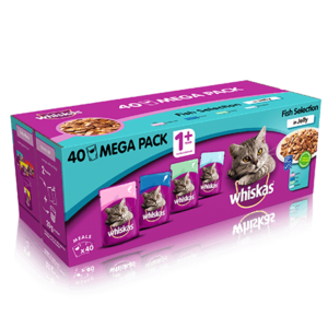 WHISKAS® 1 Fish Selection in Jelly 40 x 100g 4kg