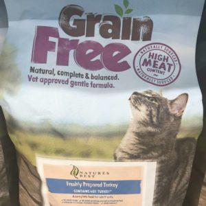 natures best grain free turkey cat food.