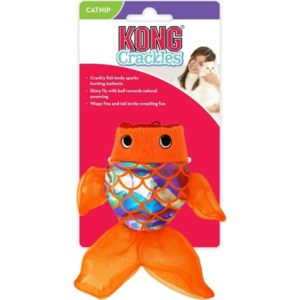 kong crackles fish cat toy