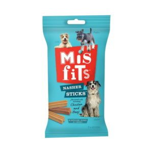 misfits nasher sticks dog treat.