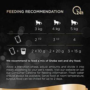 sheba cat food feeding recommendation