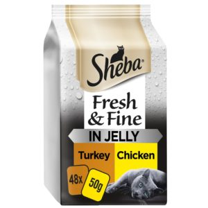 sheba chicken and turkey in jelly pack