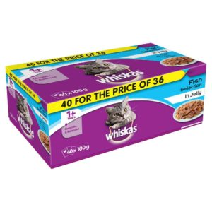 whiskas pouch 40 36 fish jelly