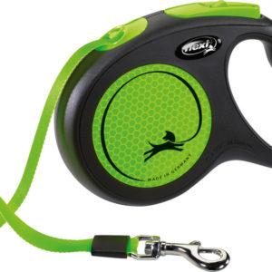 Flexi Neon Reflective Dog Lead 5M (Green) Small