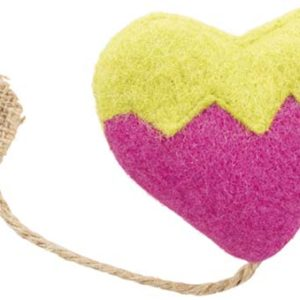 heart cat toy with catnip