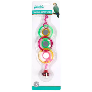 pawise spinner mirror chain for birds