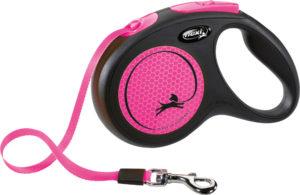 trixie neon pink reflective dog leash sml 5m